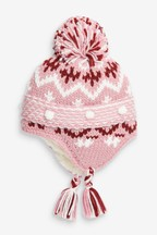 Fairisle Pattern Trapper Hat (Younger)