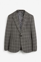 Wide Lapel Check Suit: Jacket