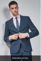 Wool Blend Stretch Suit: Jacket
