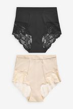 Shaping Lace Back Knickers Two Pack
