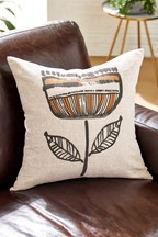 Gombo Leaf Print Cushion