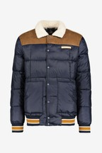 Superdry Navy Racer Quilted Coat
