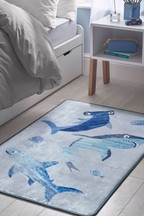 Silly Sharks Printed Rug