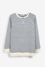 Stripe Towelling Top