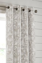 Linear Floral Eyelet Curtains