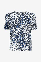 Whistles Brushed Leopard Shell Top