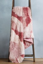 Abstract Faux Fur Throw
