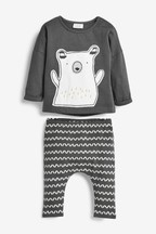 Bear T-Shirt And Leggings Two Piece Set (0mths-2yrs)