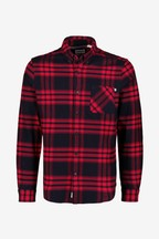 Timberland® Red Regular Fit Heavy Flannel Check Shirt