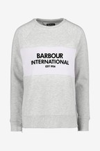 Barbour® International Grey Contrast Logo Island Sweatshirt
