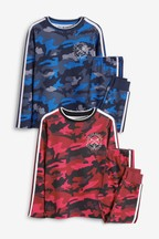 2 Pack Camo Print Pyjamas (3-16yrs)