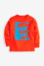 Long Sleeve Skull T-Shirt (3-16yrs)