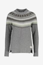Barbour® Heritage Grey Fairisle Pattern Monmouth Jumper
