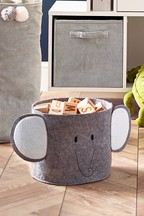 Elephant Felt Storage Basket