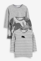 Stripe And Camouflage T-Shirts Three Pack (0mths-2yrs)