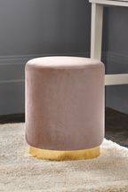 Elinore Stool With Gold Metal Base