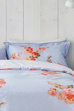 Joules Hollyhock Floral Cotton Pillowcase