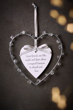 Beaded Heart Hanging Decoration