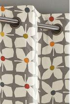 Retro Geo Floral Curtain Fabric Sample