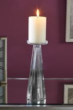 Faceted Glass Candlestick