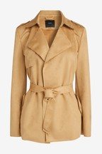 Suedette Trench Jacket