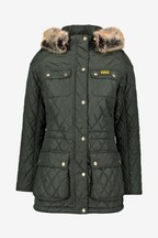 Barbour® International Moto Green Enduro Quilted Jacket
