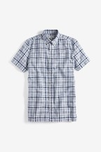Cotton/Linen Check Slim Fit Shirt