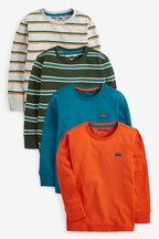 4 Pack Long Sleeve Stripe T-Shirts (3mths-7yrs)