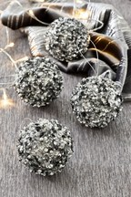 Set of 4 Beaded Baubles