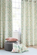 Retro Geo Floral Curtains