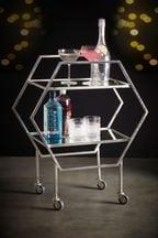 Silver Bar Drinks Trolley