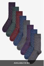Small Spot Socks Eight Pack