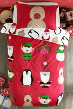 Rudolph And Friends Duvet Cover And Pillowcase Set