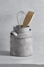 Galvanized Utensil Pot