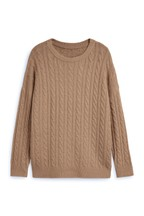 Knitted Cable Crew Jumper