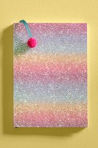 Rainbow Glitter Notebook