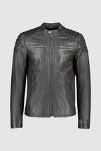 Superdry Black Hero Leather Jacket