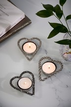 Set of 3 Beaded Tealight Holders