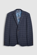Skinny Fit Tollegno Check Suit: Jacket