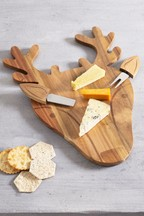 Wooden Stag Cheese Board