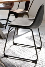 Set Of 2 Wyatt Dining Chairs With Black Legs