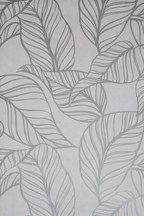 Paste The Wall Silver Line Leaf Wallpaper Sample