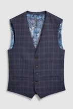 Tollegno Check Suit: Waistcoat