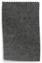 Monza Faux Leather Grey Fabric Sample