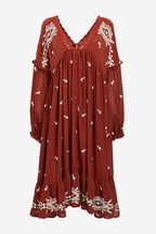 Free People Red Lavender Fields Dress