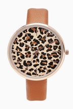 Leopard Print Dial Watch