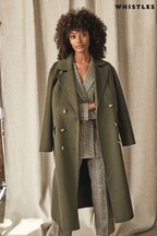 Whistles Sage Double Faced Coat