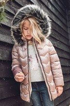 Shower Resistant Long Padded Coat (3-16yrs)