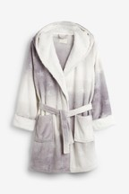 Supersoft Robe With Faux Fur Trim