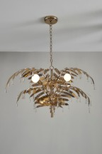 Palm Leaf 3 Light Chandelier